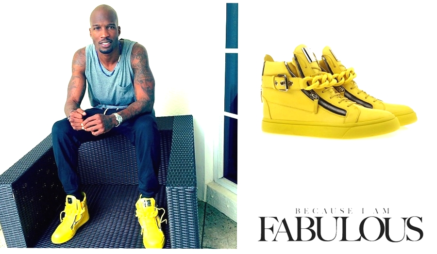 Giuseppe-Zanotti-Yellow-Chain-Sneakers-36th-Birthday-Chad-Johnson